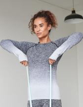 Ladies` Seamless Fade Out Long Sleeved Top