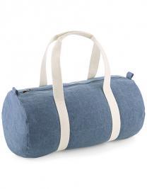 Denim Barrel Bag