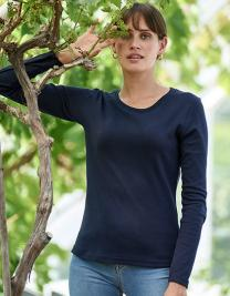 Womens Long Sleeve Interlock Tee