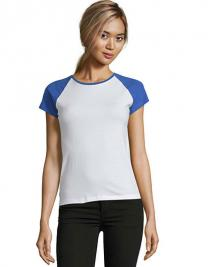 Women`s Raglan Colour-T Milky