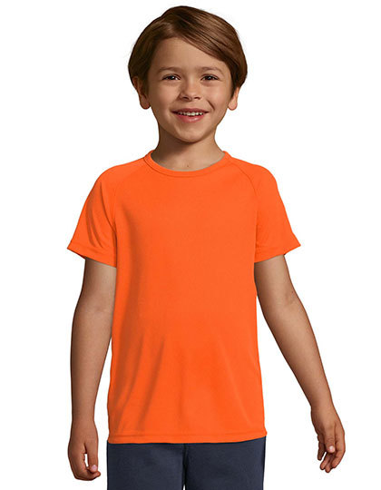Kids` Raglan Sleeved T-Shirt Sporty
